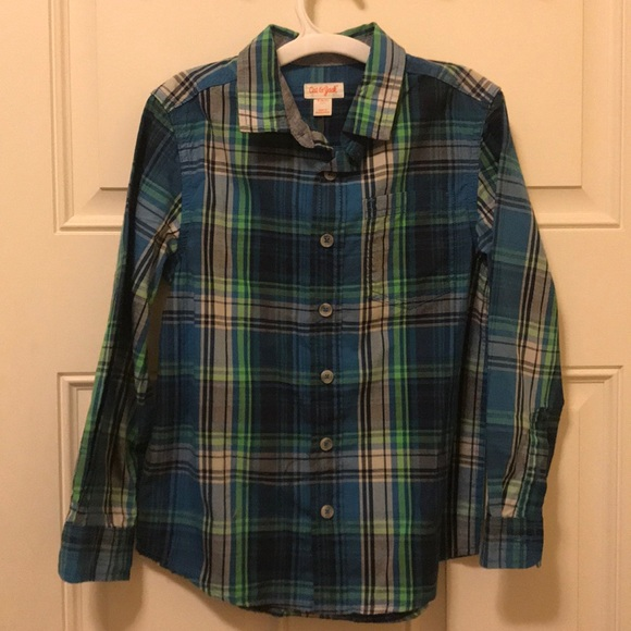 Cat & Jack Other - NWT Cat and Jack blue/green button down